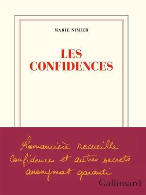 cover image of Les confidences