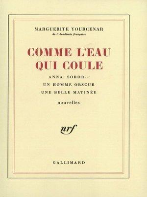 cover image of Comme l'eau qui coule