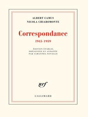 cover image of Correspondance (1854-1898)