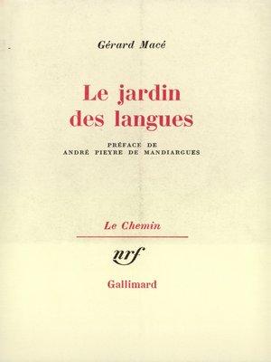 cover image of Le jardin des langues