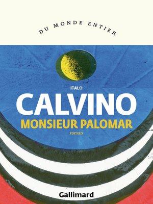 cover image of Monsieur Palomar