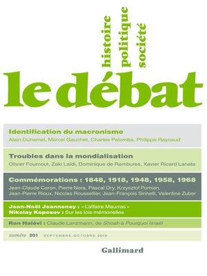 cover image of Le Débat N° 201 (Septembre--Octobre)