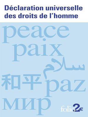 cover image of Déclaration universelle des droits de l'homme
