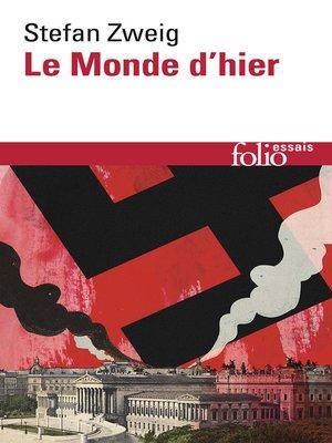 cover image of Le Monde d'hier