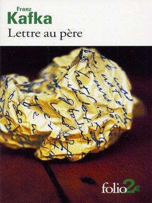 cover image of Lettre au père