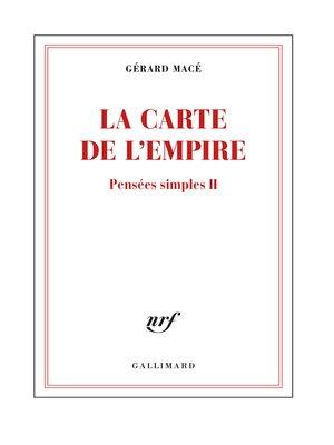 cover image of Pensées simples (Tome 2)--La carte de l'empire