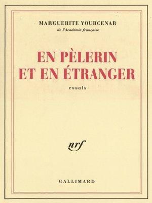 cover image of En pèlerin et en étranger
