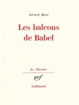 cover image of Les balcons de Babel