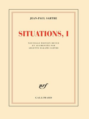 cover image of Situations (Tome 1)--Février 1938--septembre 1944