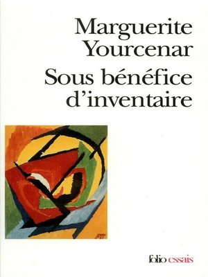 cover image of Sous bénéfice d'inventaire
