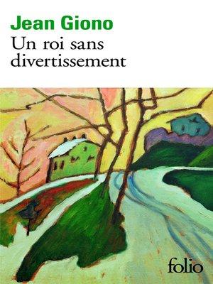 cover image of Un roi sans divertissement