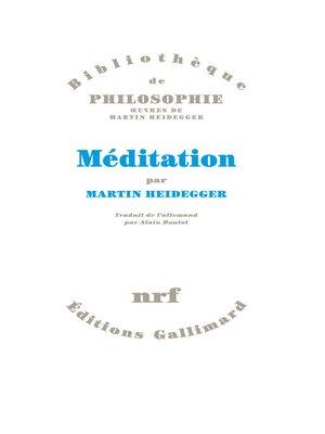cover image of Méditation