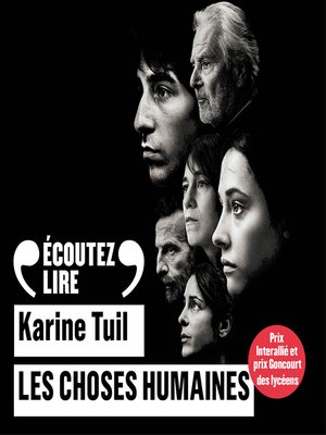 cover image of Les choses humaines