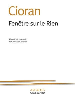 cover image of Fenêtre sur le Rien