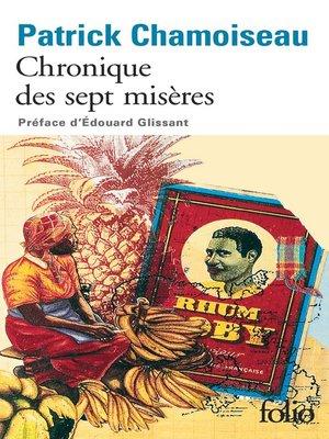 cover image of Chronique des sept misères / Paroles de djobeurs