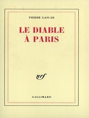 cover image of Le Diable à Paris