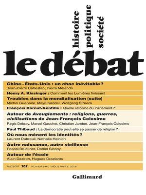 cover image of Le Débat N° 202 (Novembre--Décembre)
