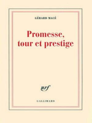 cover image of Promesse, tour et prestige