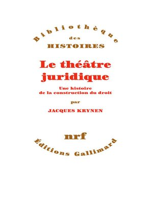 cover image of Le théâtre juridique