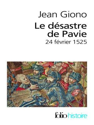 cover image of Le Désastre de Pavie