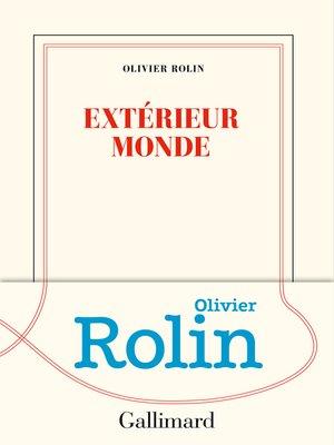 cover image of Extérieur monde