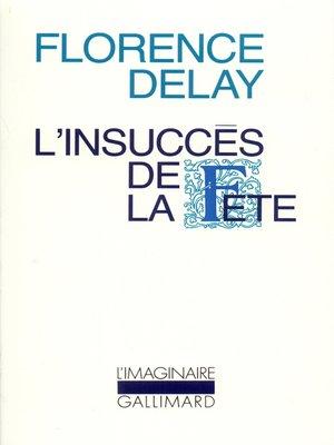 cover image of L'insuccès de la fête