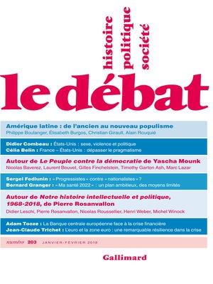 cover image of Le Débat N° 203 (Janvier- Février)