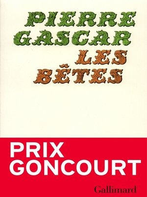 cover image of Les Bêtes