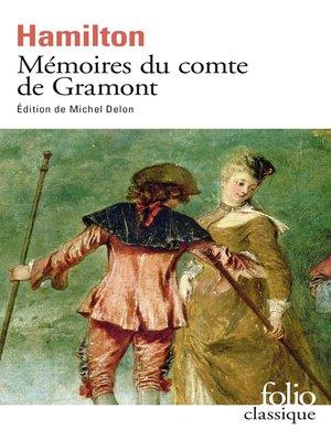 cover image of Mémoires du comte de Gramont