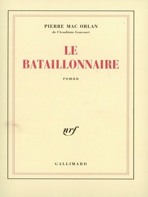 cover image of Le Bataillonnaire