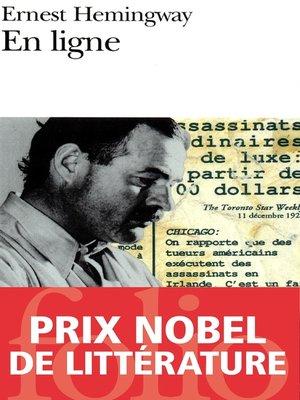 cover image of En ligne. Choix d'articles et de dépêches de quarante années