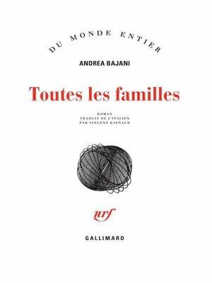 cover image of Toutes les familles