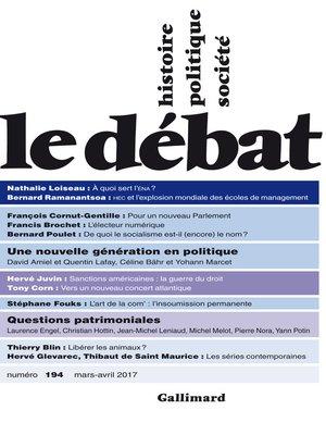 cover image of Le Débat N° 194 (Mars--avril 2017)