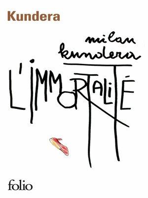 cover image of L'Immortalité