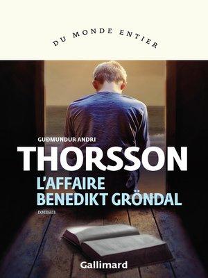cover image of L'affaire Benedikt Gröndal