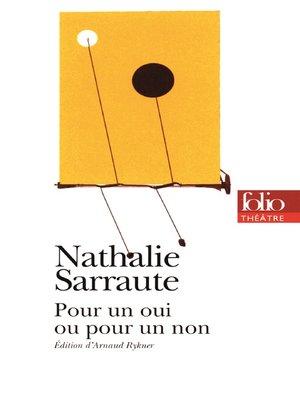 cover image of Pour un oui ou pour un non