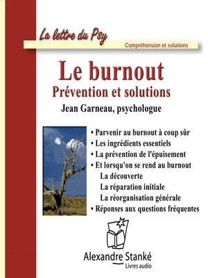 cover image of Le burnout