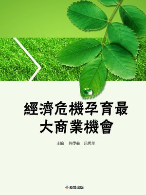 cover image of 經濟危機孕育最大商業機會