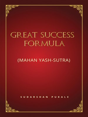 cover image of Great Success Formula for Life