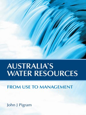 cover image of Australia's Water Resources