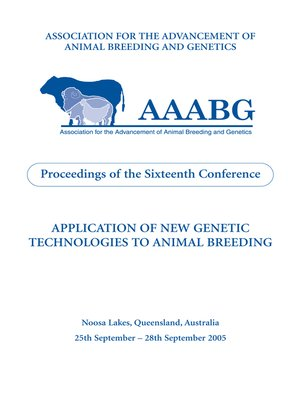 cover image of Application of New Genetic Technologies to Animal Breeding