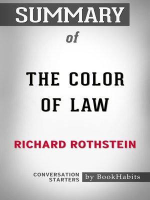 cover image of Summary of the Color of Law by Richard Rothstein