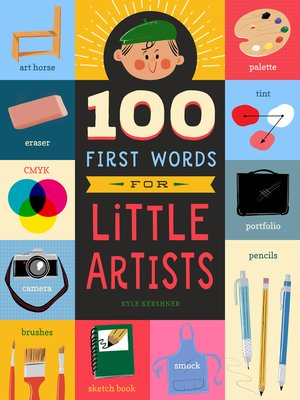 cover image of 100 First Words for Little Artists