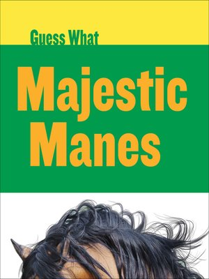 cover image of Majestic Manes: Horse