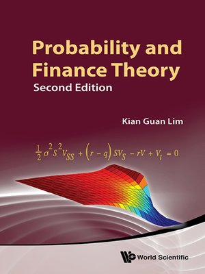 cover image of Probability and Finance Theory ()