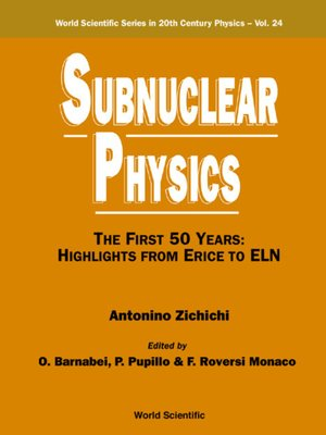 cover image of Subnuclear Physics,the First 50 Years