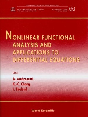 cover image of Nonlinear Functional Analysis and Applications to Differential Equations
