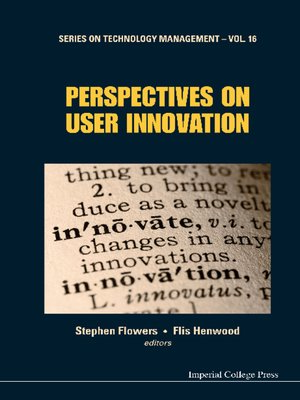 cover image of Perspectives On User Innovation