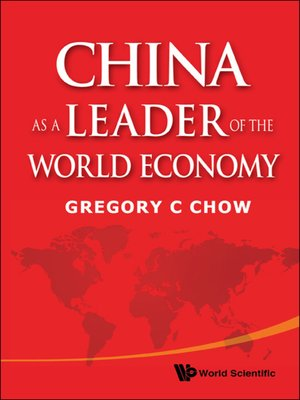 cover image of China As a Leader of the World Economy