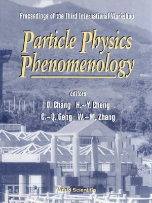 cover image of Particle Physics Phenomenology--Proceedings of the Third International Workshop